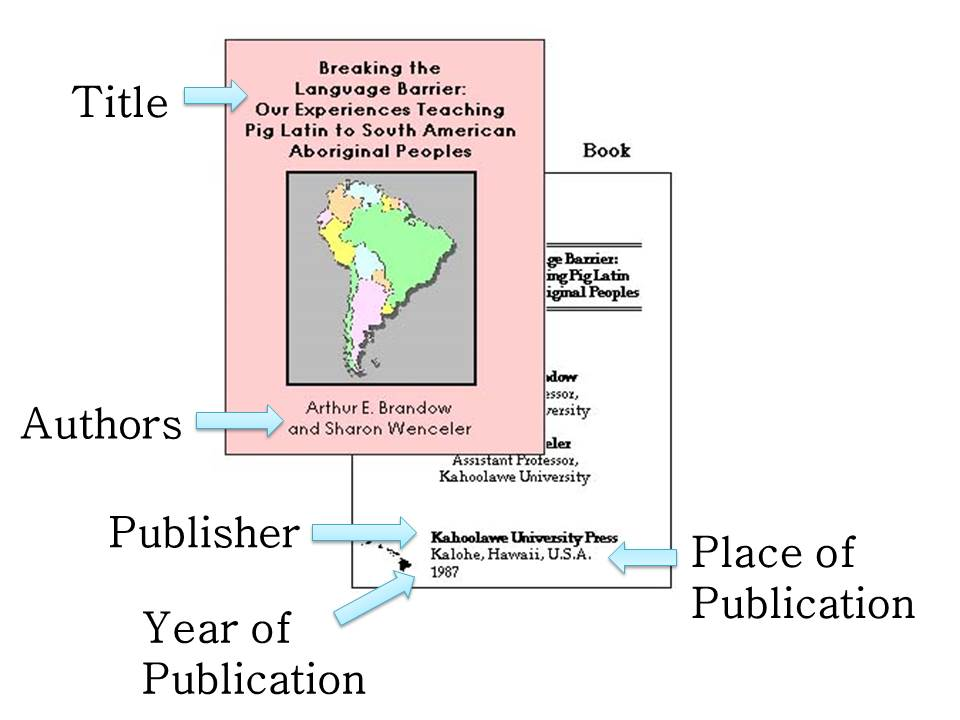 book citation apa format